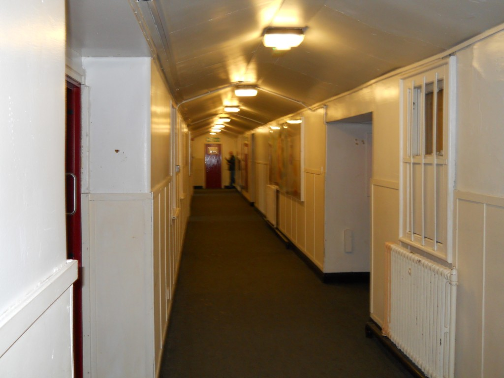 Art rooms were off this corridor